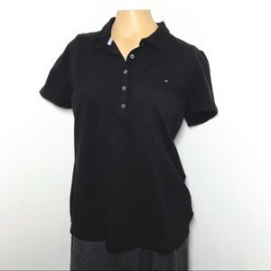 Tommy Hilfiger Black Button up Polo Shirt